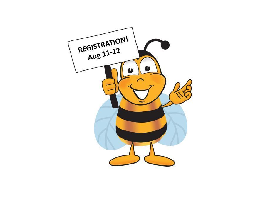Back to School Registration: Aug 11th -12th!