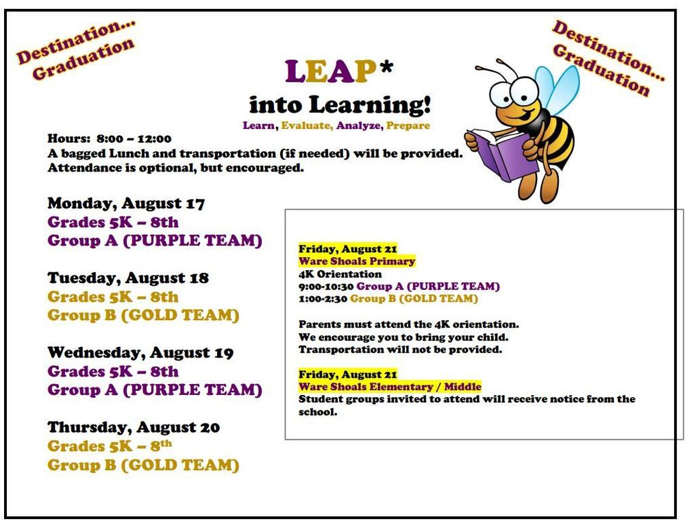 LEAP Days Announced AUG 17-20