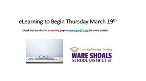 eLearning to Begin Thursday March 19th