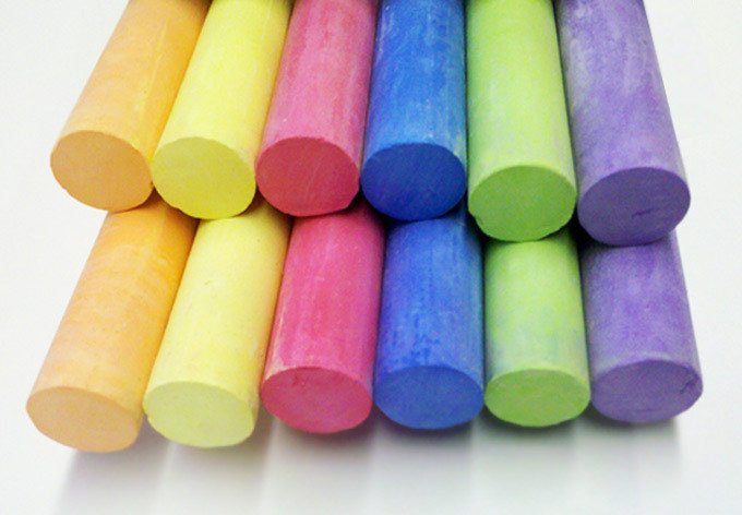 Colorful Chalk Close-up