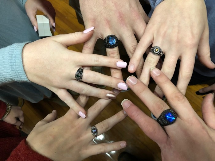 Class ring ceremony